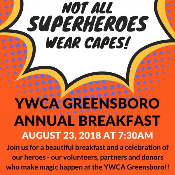 YWCA Greensboro Annual Breakfast graphic