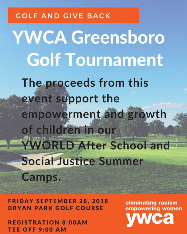 2018 YWCA Greensboro Golf Tournament Registration flyer