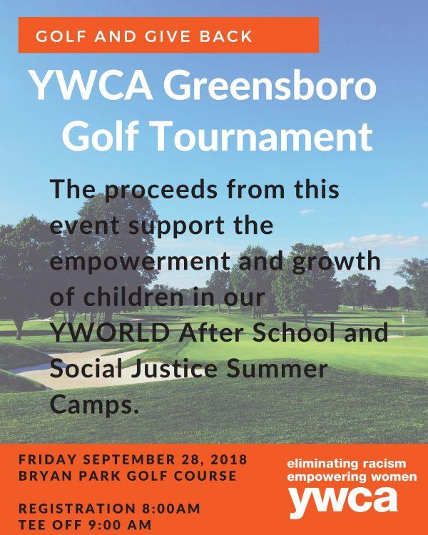 2018 YWCA Greensboro Golf Tournament Registration flyer